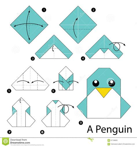 Procedure Of Origami - step by step how to make origami a penguin