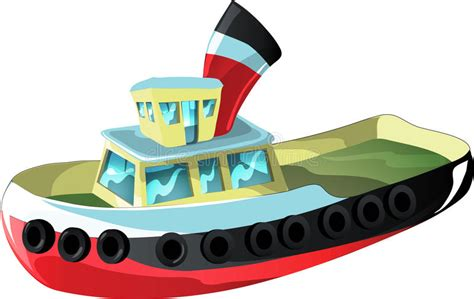tugboat cartoon cartoon tug boat stock vector illustration of ferry