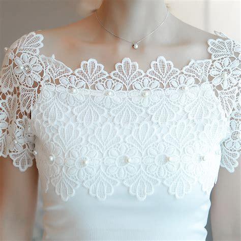 Blouse Atasan Tunik Import White Pearl Size L 305438 lace patchwork blouse shirt casual shoulder top