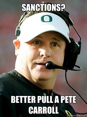 Pete Carroll Memes - sanctions better pull a pete carroll chip kelly confused quickmeme