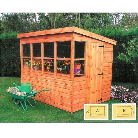 buy shire sun pent potting garden shed