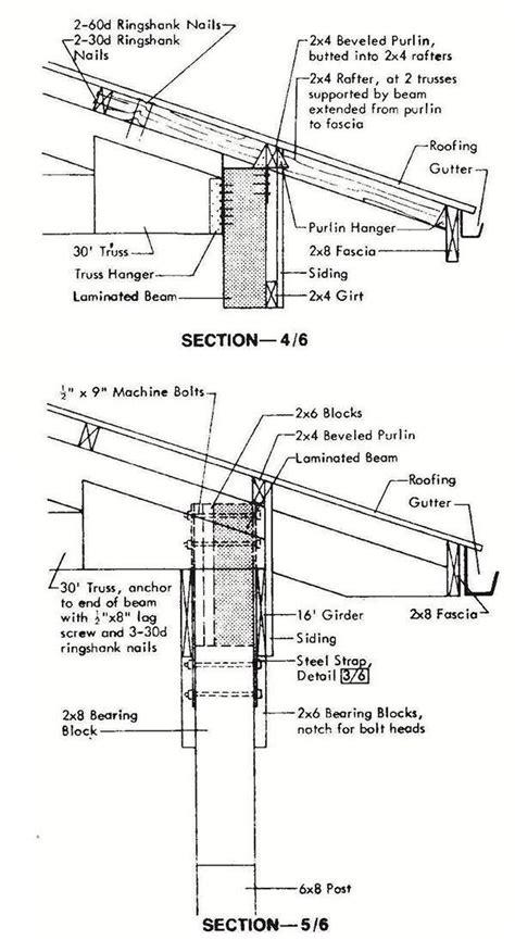 pole machine shed plans blueprints  industrial