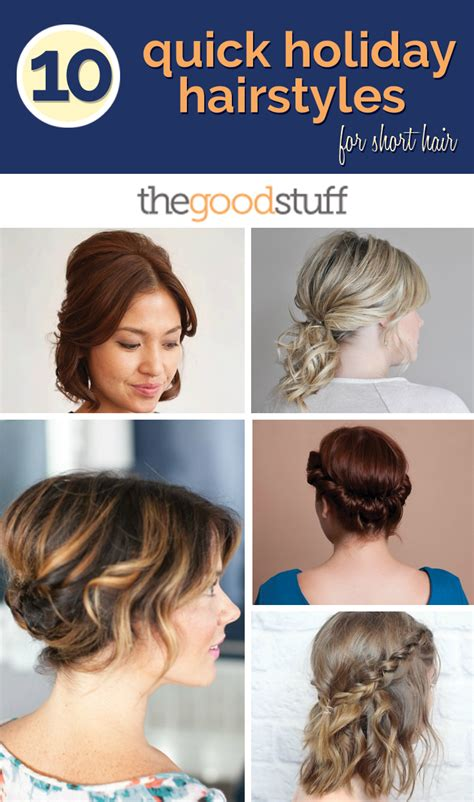 daily hairstyles at home 10 quick holiday hairstyles for short hair thegoodstuff