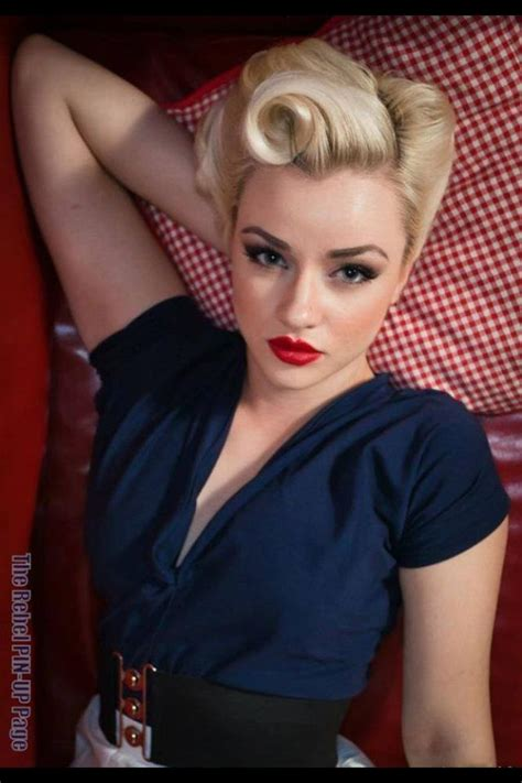 hairstyle pin ups 50s pin up hairstyles for long hair quotes