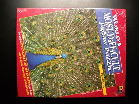 difficult printable jigsaw puzzles buffalo games jigsaw puzzle 1998 peacock world s most