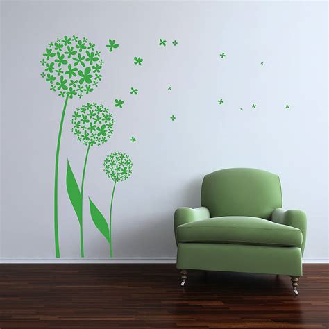 dandelion wall sticker dandelion 02 wall sticker by spin collective