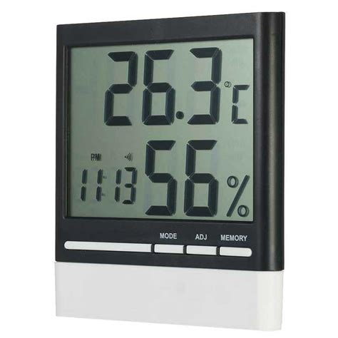 Baldr Jam Alarm Led Thermometer Weather Station With Probe jam alarm led weather station thermometer cx 318 omhzruwh titangadget