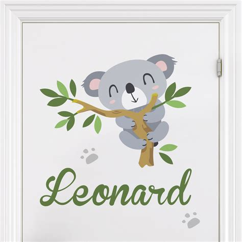 wandtattoo kinderzimmer koala wandtattoo namen kinderzimmer koalab 228 r zweig wunschtext