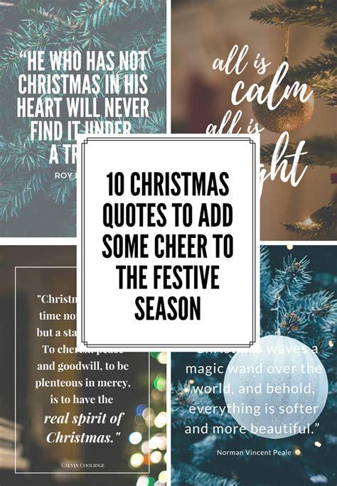 christmas quotes  add  cheer   festive season food home entertaining