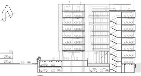Building Section Drawing building section drawing milanofiori nord office building section drawing courtesy of park