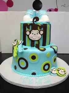baby shower monkey cake ideas boys