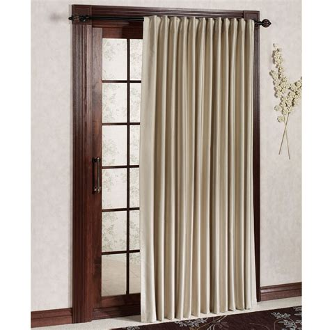 Patio Door Panels Curtains Fontaine Back Tab Room Darkening Patio Panel