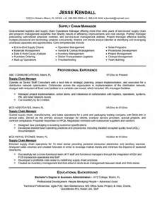 Resume Format For Supply Chain Management by Supply Chain Manager Resume