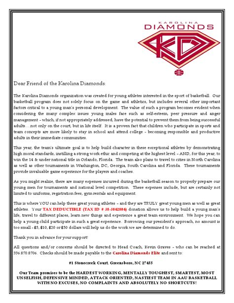 Fundraising Letter Exles For Sports Sle Donation Request Letters For Sports Teams Best Photos Of Youth Sports Donation Request