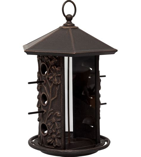 metal hanging bird feeder in bird feeders