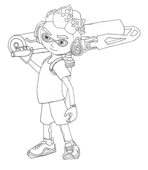 Splatoon 2 Coloring Pages by 10 Free Printable Splatoon Coloring Pages