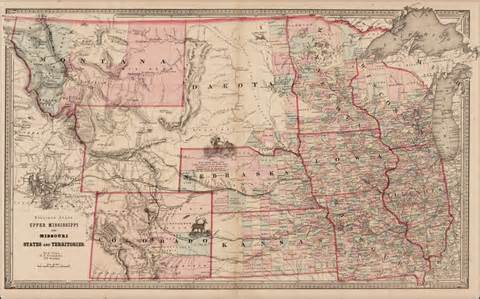 colorado wyoming map mississippi and missouri states and territories