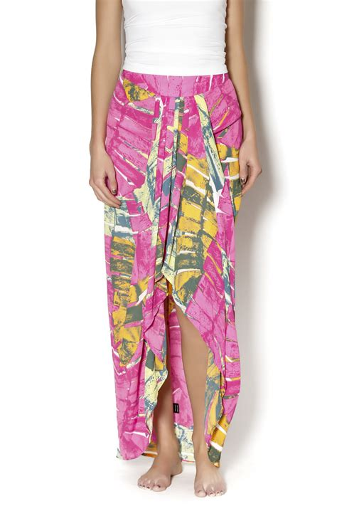 White Tropical Color S M L Top 44421 ruby and hawaiian maxi skirt from manhattan shoptiques