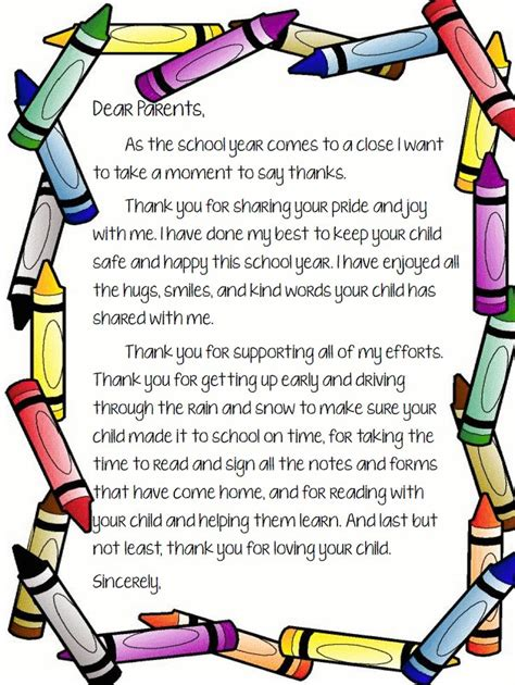 10 best goodbye letter to parents images on pinterest classroom