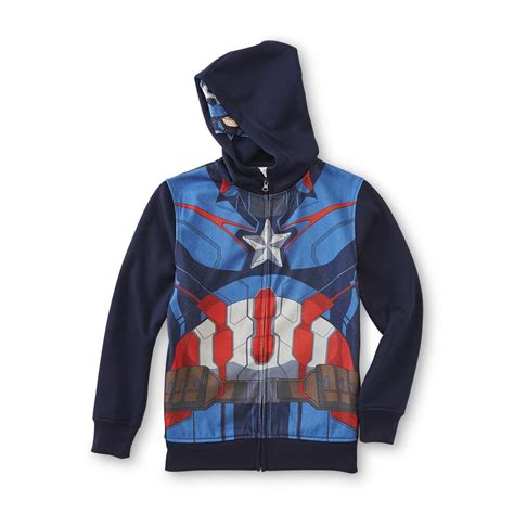 Hoodie Anak Anak Captain America marvel captain america boy s costume hoodie jacket shop your way shopping earn