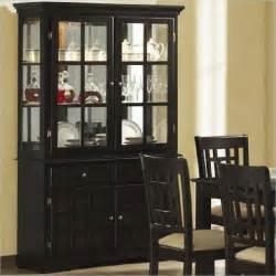 glass hutch cabinet coaster baldwin buffet hutch with 2 glass doors