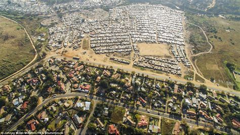 rich of africa others see divide of rich and poor in south africa daily mail