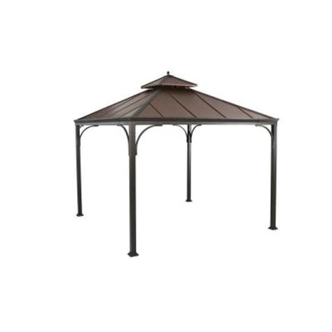 hton bay gazebo 10 ft x 10 ft gazebo 1 299 00