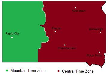 us time zone map dakota time zones map in south dakota usa timebie