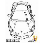 Free Lamborghini Reventon Coloring Sheets