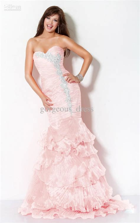 Dress Mermaid Pink light pink mermaid prom dress by dhgate sang maestro