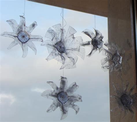 new year decorations using recycled materials fab mums 187 from plastic bottles to snowflake ornaments