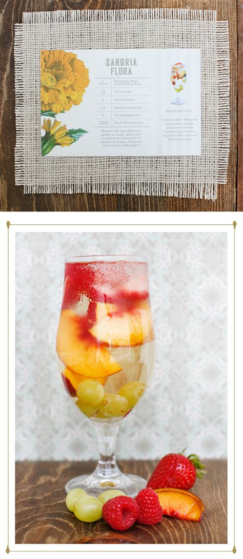 signature wedding drink ideas by st germain