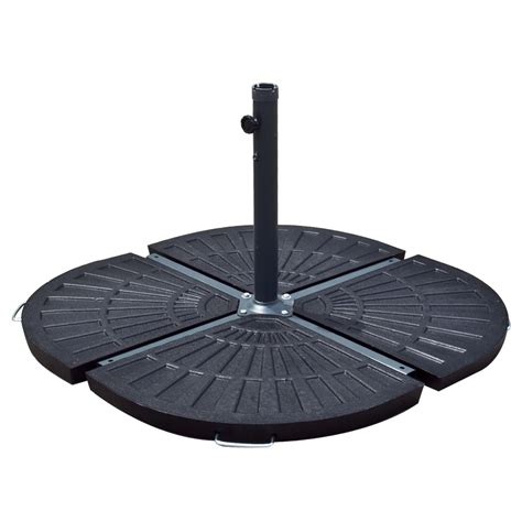 Patio Umbrella Stand Aged Metal New Patio Umbrella Stand 30lb Resin Base Outdoor For 10 Ft Look Ebay