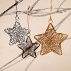 Stars Decorations For Home by Set Of Two Metallic Star Decorations By Paper High