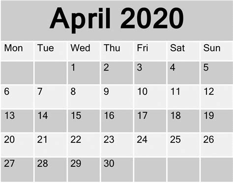 april  printable calendar freelatest calendar medium