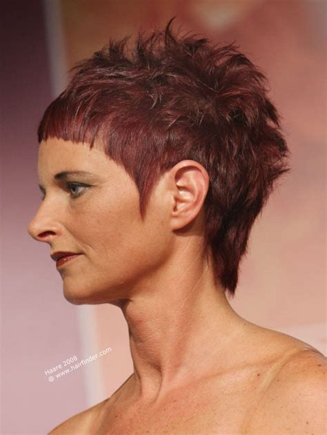 extravagant short haircut with extra short bangs and