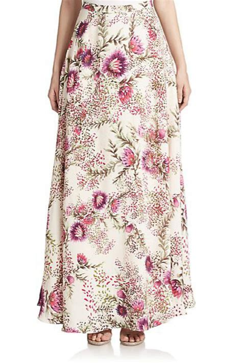 haute hippie floral maxi skirt from florida by beachfolly