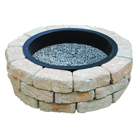 Lowes Outdoor Firepit Oldcastle Beltis Pit Kit Lowe S Canada