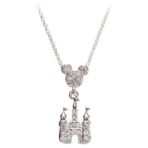 Disney Mickey Necklace Kalung your wdw store disney necklace mickey mouse icon w pave magic castle