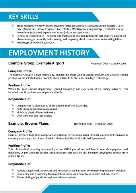 Key Skills Resume Examples by Job Resume Free Electrician Cv Template Industrial