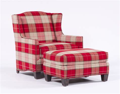 plaid chair and ottoman plaid armchair and ottoman living room for ladies