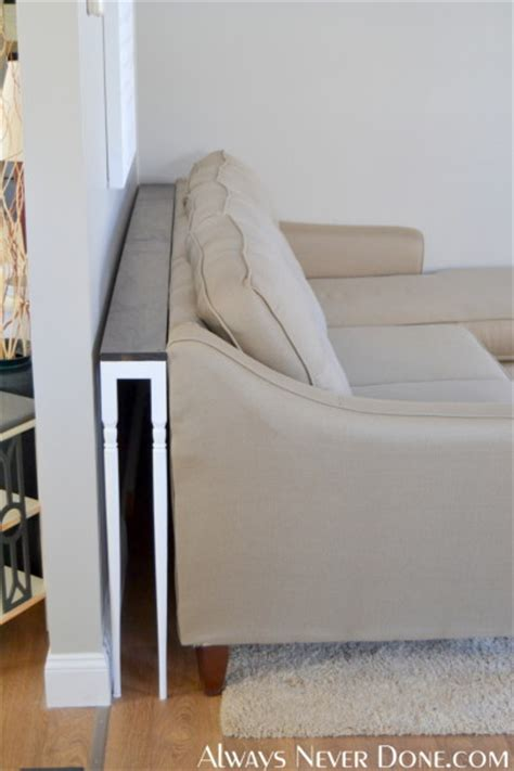 table to go behind couch 25 sofa table tutorial