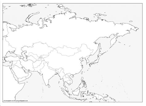 blank map of asia blank outline map of asia printable