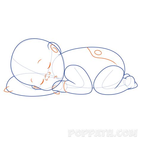 how to draw doodle lines how to draw a baby sleeping pop path