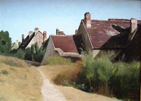 House Artists by File Houses Near Orleans Painting By Jean Baptiste