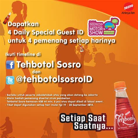 Agen Teh Botol Sosro distributor sosro teh botol sosro di acara indonesia