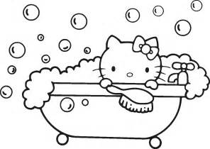 kitty birthday black white coloring pages viewing gallery