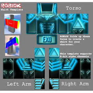 exo cyan blue armor anime robot shirt roblox