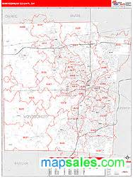 Montgomery County Zip Code Map by Montgomery County Oh Zip Code Wall Map Red Line Style By