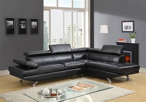 9782 contemporary leather sectional by global usa buy from